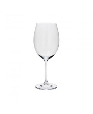 Taça Água de Cristal Cobalt Com 6 Peças 580ml - Bohemia
