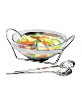Jogo de Vidro Para Salada Linear Com 3 Peças 35,5cm - Regent