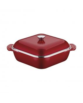 Caçarola Quadrada Lyon Vermelha em Alumínio Forjado 5,6L - Tramontina