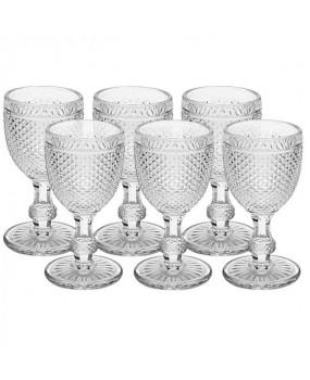 Taça Água de Vidro Transparente Com 6 Peças 330ml - Dynasty
