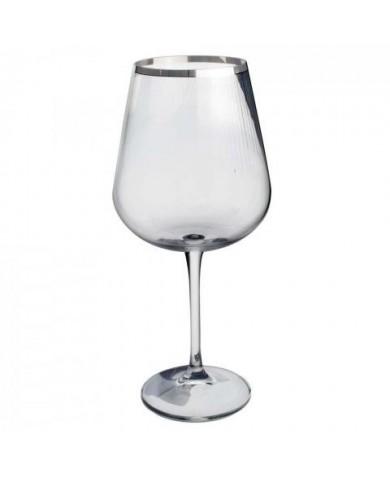 Taça Água de Cristal Amundsen Stripes Com 6 Peças 670ml - Bohemia