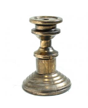 Castiçal em Cerâmica Bronze 25cm - City Imports