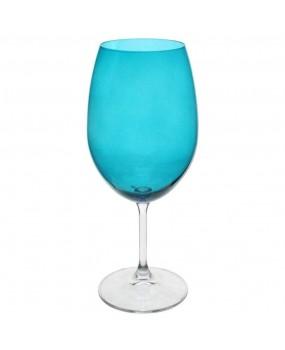Taça Água de Cristal Anna Turquesa Com 6 Peças 540ml - Bohemia