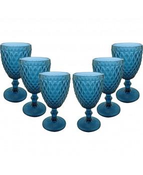 Taça Água de Vidro Verre Com 6 Peças 300ml - Dynasty