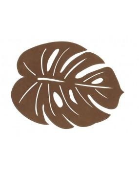 Jogo Americano Trento Leaf Caramelo em Suede 45cm Avulso - Copa & Cia
