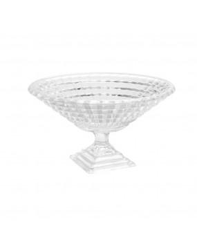 Centro de Mesa com Pé de Cristal Diamond 34,5cm - Wolff